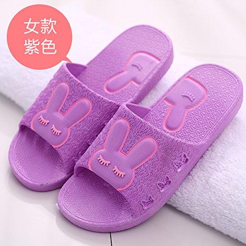 DogHaccd pantofole,Il bagno pantofole femmina estivo anti-slittamento coppie spesso rimanere al coperto di acqua di balneazione morbido e fresco in estate sandali uomini La porpora4