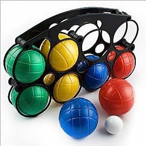 relaxdays boule spiel boule set 8 kugeln boccia spielzeug. Black Bedroom Furniture Sets. Home Design Ideas