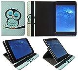 AlpenTab Almrausch 10.1 Zoll Tablet Schlafende Eule Universal 360 Grad Drehung PU Leder Tasche Schutzhülle Case von Sweet Tech