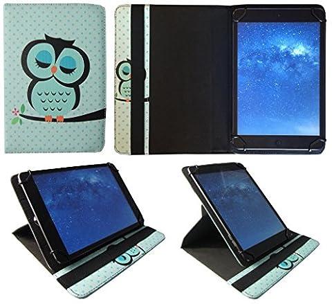Polaroid Platinum 10.1 Pouces Tablette Hibou Dormir Universel 360° Rotation Étui Coque Housse de Sweet