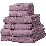 Linens Limited Supreme 100% Egyptian Cotton 500gsm 6 Piece Hotel Towel Set, Mauve