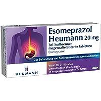 Esomeprazol Heumann 20 mg, 14 St. Tabletten preisvergleich bei billige-tabletten.eu