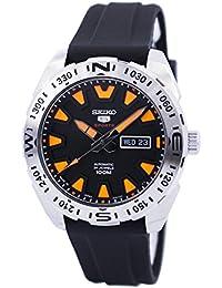 Seiko 5Sports Hommes de montre automatique, Bracelet en Caoutchouc Noir, 100m w/r–srp741j1–(fabriqué au Japon)