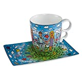 Goebel - Tasse mit Untertasse - Tasse Friends - Porzellan - James Rizzi -0,35 l