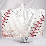 Eceitti Texture Cuddly - Sudadera de béisbol sin Color, con Capucha y Tacto Suave, Ideal para el sofá, para Primavera o otoño o Invierno, Estilo Familiar, Blanco, 60x80 Inch