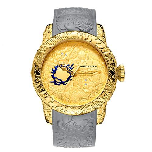 LKHJ Reloj De Hombredragón De Oro Escultura Reloj