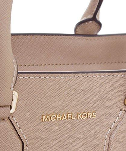 Michael Kors Seby Medium Satchel in pelle beige Tan