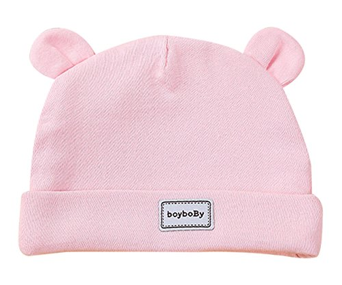 Feoya Gorro Gorra para Bebés Sombrero de Punto Recien Nacido Hat Primavera  con Orejas Lindo Algodón 471457b3529