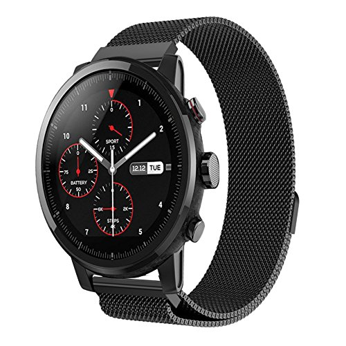 Tabcover for AMAZFIT 2 2S Armband,22mm Quick Release Replacement Rostfreier Stahl Watch Strap for Xiaomi Huami Amazfit 2/2S