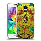 Head Case Designs Samt, Schlangen Und Voegel Gedruckte Patches Und Textilien Soft Gel Hülle für Samsung Galaxy S5 Mini