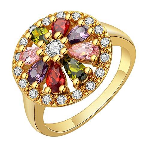 Katie's Style  -  Sonstige Kupfer Mehrfarbig Zirkonia (Cubic Flower Ring Black)