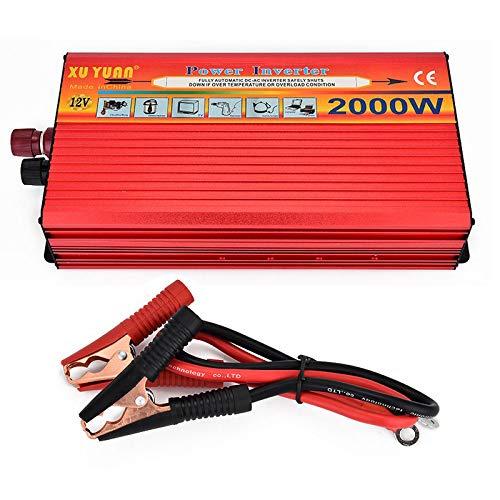 Tragbarer Inverter 12 V auf 110 V Spitzenleistung, 2000 W Wechselrichter, Kfz-Netzteil, Ladeadapter, Wechselrichter Xantrex 3000w Wechselrichter
