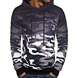 Herren Pullover Kapuzenpullover Hoodie Strickpullover mit Kapuze Longsleeve Sweater Sweatshirt