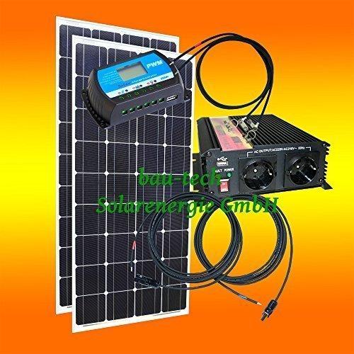 260 Watt Inselanlage, 12 Volt SET mit Spannungswandler ohne Batterie von bau-tech Solarenergie GmbH
