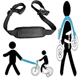 shoulder carrying strap for kids balance bike, to lead the kid's bike as trailer , carry on shoulder, or on stroller handle bar