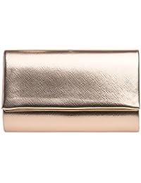 6f3a864032ebd CASPAR TA361 elegante Damen Envelope Clutch Tasche Abendtasche mit langer  Kette