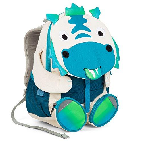 Drache Rucksack (Affenzahn Kinder-Rucksack mit Brustgurt für 3-5 jährige Jungen und Mädchen im Kindergarten oder Kita der große Freund Diego Drache - türkis)