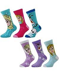 3 pares de Niñas Bonita Con licencia Disney Frozen Calcetines Con Personaje / Varios Diseños
