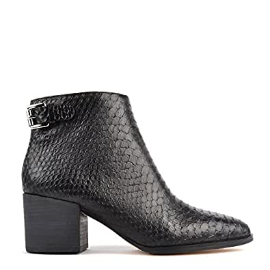 Michael Michael Kors Saylor Black Python Embossed Ankle Boot 38.5EU/5.5UK Black