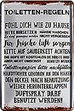 Toiletten-Regeln Klo WC Witziger Spruch 20x30 cm Deko Blechschild 231