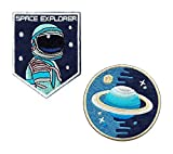 """Iron on/Sew on/Embroidered Patch """"Space Explorer"""" (Set)"""