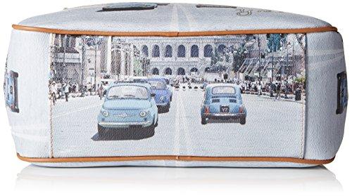 Y NOT? Damen H-370 Umhängetaschen, 31x24.5x12.5 cm Multicolore (Weekend in Rome)