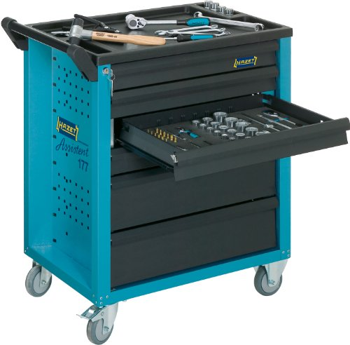 HAZET Werkstattwagen Assistent (4 flache und 2 hohe Schubladen, Traglast pro Schublade 20 kg, Gesamttragkraft (statisch): 300kg) 177-6 - 3