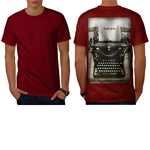 Remington Standard Typewriter Men NEW Red S T-shirt