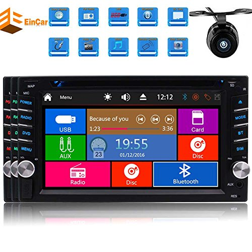 Doppel-DIN Wince 8.0 Auto-DVD-Player in dem Schlag 7inch Digital Touch Screen Head Unit mit Autoradio Bluetooth FM AM RDS Digital Receiver Radio Stereo-Unterst¨¹tzungs-USB-SD Aux Subwoofer Muti-Sprache Autoradio + Free Camere (Bluetooth-pionier)
