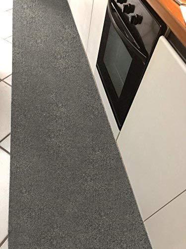 M.service srl tappeto/passatoia multifunzione in moquette - sotto lavello - adatto per cucina e bagno - antiscivolo - elevata resistenza - mis. h 67 x 300 cm (grigio)