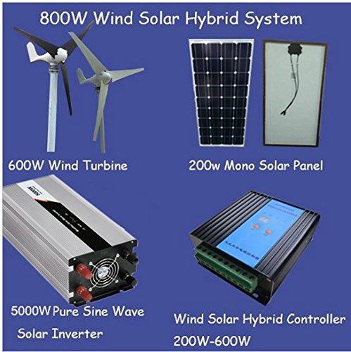 GOWE 800W generador energía solar hogar sistema/600W