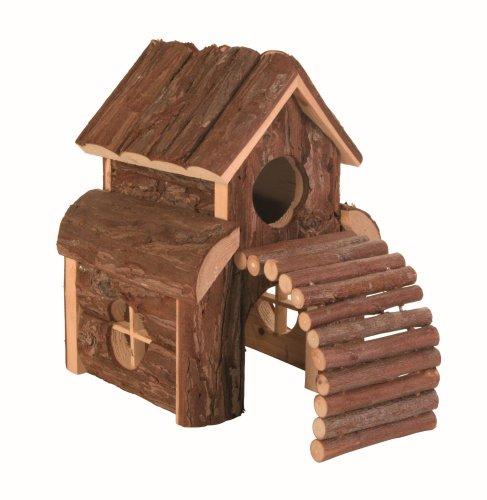 Trixie 6203 Natural Living Finn Blockhaus mit Brücke, 13 × 20 × 20 cm