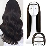 Sunny - U Part Human Hair Wigs Lunga - Lace Front Wig, Parrucche U-Part Pizzo Frontale - Marrone cioccolato 2# - 18inch/45cm 120g