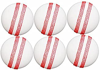 key solution poly medium, hard ball ,pack of 6 pcs in white color