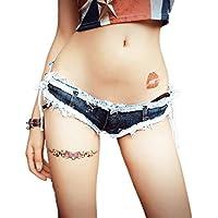 RXL-shorts Pantalones cortos de mezclilla para mujeres Pantalones cortos Pantalones cortos para mujeres Pantalones cortos de mezclilla Low-rise Pantalones cortos Pantalones cortos de playa