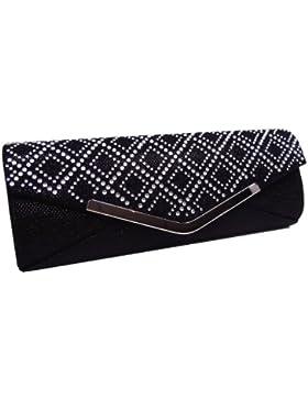 Just Lili Clutch Abendtasche Umhängetasche Handtaschen Black