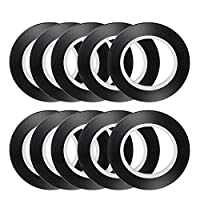 AIEX Chart Tape Whiteboard Gridding Graphic Tape Black 3mm Width Self Adehesive Tapes for School, Office and Home (10 pcs)