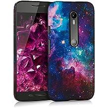 kwmobile Funda Hardcase Diseño universo para Motorola Moto G (3. Generation) en multicolor rosa fucsia negro