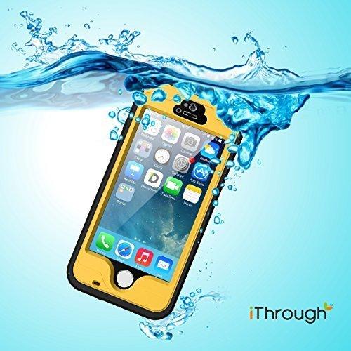 Funda Impermeable para iPhone 5S, iThroughTM Funda Impermeable para iPhone 5, Funda a Prueba de Polvo, de Nieve y de Golpe con Protector, Funda Protectora de Cubierta Para iPhone 5S, iPhone 5
