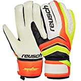 Guanti Portiere Calcio Calcetto Reusch Serathor 2017 Goalkeeper Gloves (Shocking Orange - Safety Yellow, 8,5)