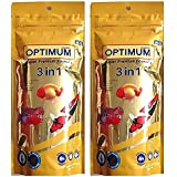 Optimum CP 3-in-1 Highly Nutritious Aquarium Fish Food for All Fishes, 100 g (Pack of 2)