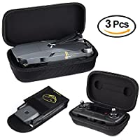 KUUQA Hardshell Carrying Case for DJI Mavic Pro Drone Body and Remote Controller Transmitter with Fireproof Battery Bag (Dji Mavic Not Included)