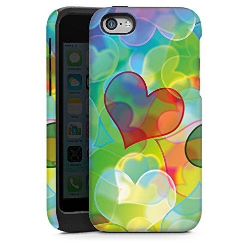 Apple iPhone 4 Housse Étui Silicone Coque Protection Amour Plexi Bunt C½ur Cas Tough brillant