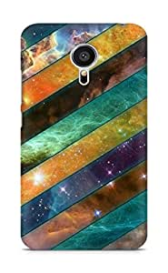 Amez designer printed 3d premium high quality back case cover for Meizu MX5 (Stripes sky obliquely)