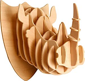 Eureka-Gepetto 52473176 Rinoceros Head - Puzzle de Madera en 3D