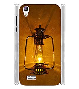 Vintage Lantern Soft Silicon Rubberized Back Case Cover for Vivo Y31