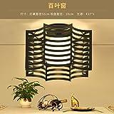 American Country Bügeleisen Deckenleuchte skandinavischen Korridor Gang Licht Retro Industrial Wind Balkon Inspiration Licht kreative Tür Eintrag Lampen, Jalousien (Schwarz) + warmes Licht
