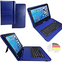 Onda V919Air–Teclado alemán Tablet Funda con función atril–9.7pulgadas azul teclado