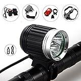 FIVEFIRE 6000Lm 3x CREE XM-L T6 LED Fahrrad Kopf vorne Lampe Fahrrad-Fahrrad-Licht-Scheinwerfer