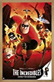 The Incredibles Poster Expect The Incredible (66x96,5 cm) gerahmt in: Rahmen Eiche
